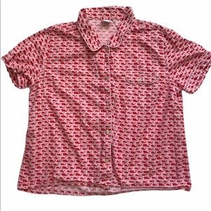 Vineyard Vines XL button down top pajama top red